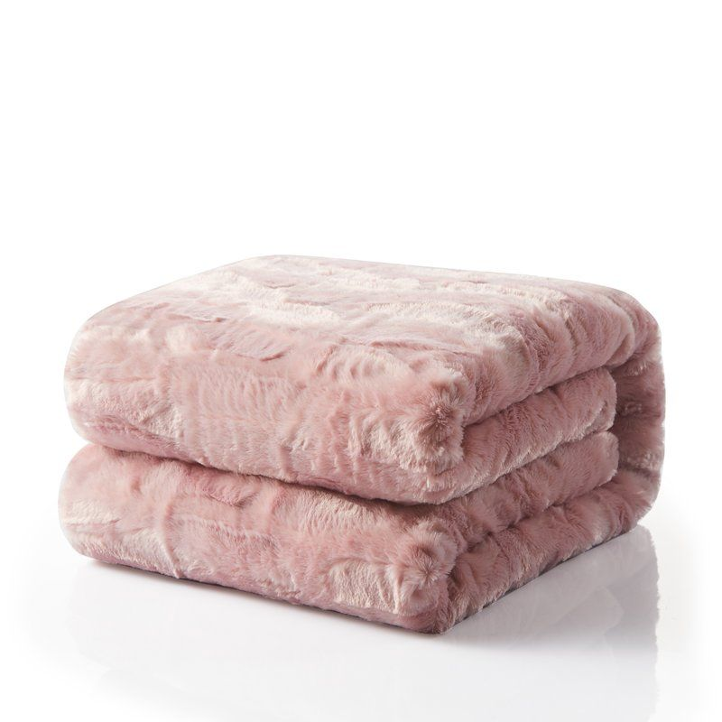 Blush Pink Is My Favorite Color And My Home Is Filled With Pink Decor I Recently Got A Blanket Super Simi Pink Throw Blanket Soft Throw Blanket Cute Blankets