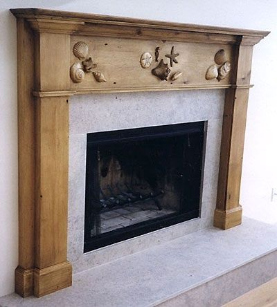 Classy BEACH fireplace SURROUND! OPEN PIC to see the ...