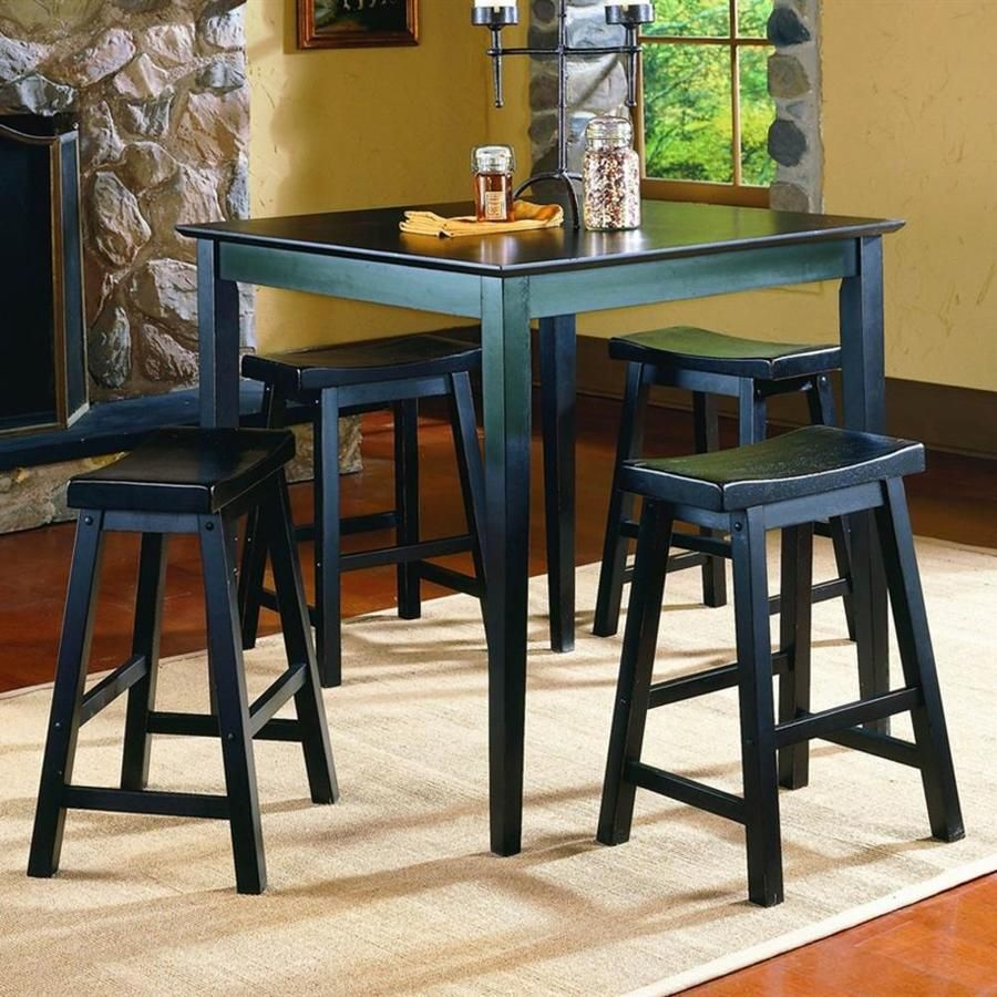 Pub Counter 3 Piece Table Set Height Dining Set With 2 Bar Stools