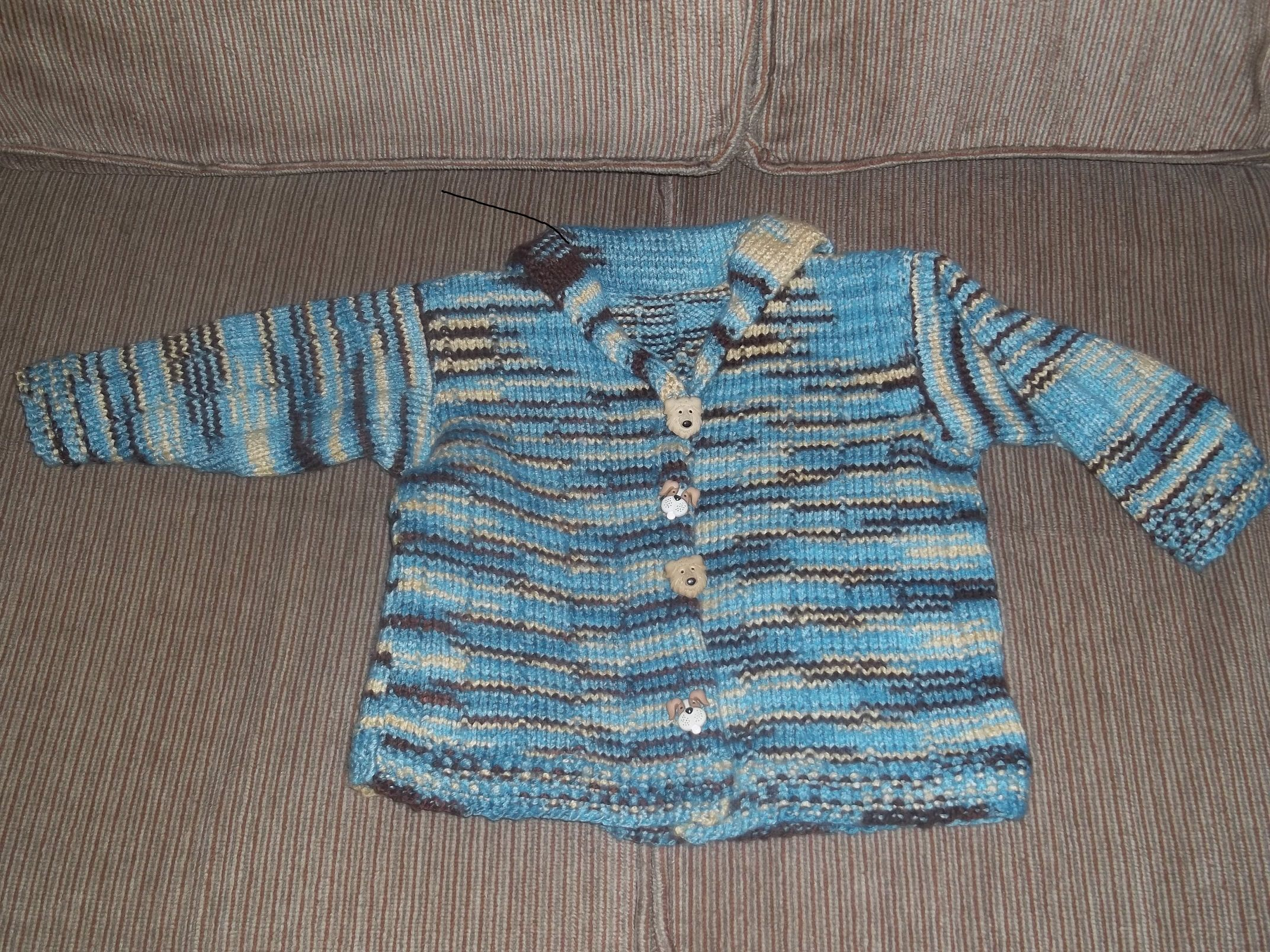 I knit this sweater for my grandson