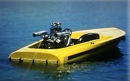Vintage Flat Bottom Ski Boat Yellow Fever With Images Jet