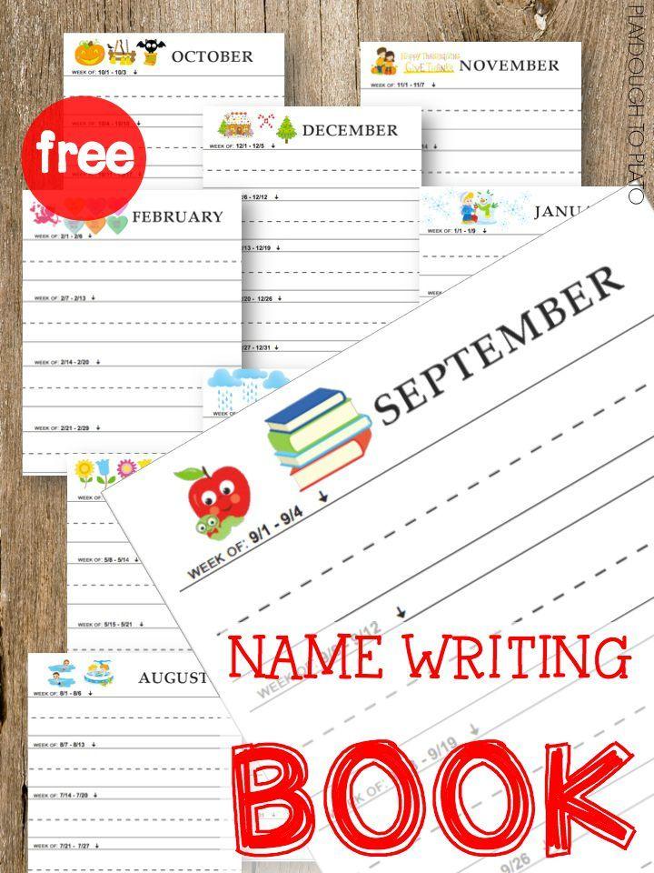 Name writing workbook reading writing readiness for Kinderschreibtisch plato