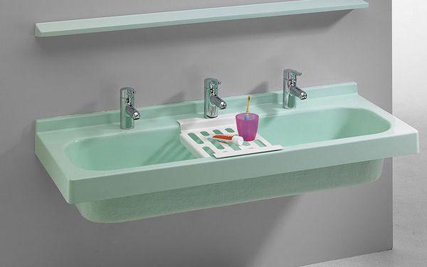 lavabo collectif rigole romex disponible en 3 coloris de romay sdb en 2018 pinterest. Black Bedroom Furniture Sets. Home Design Ideas