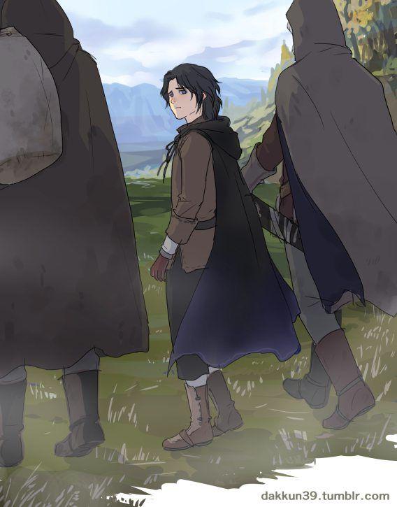 Турин с Гетроном и Гритниром отправляются в Дориат