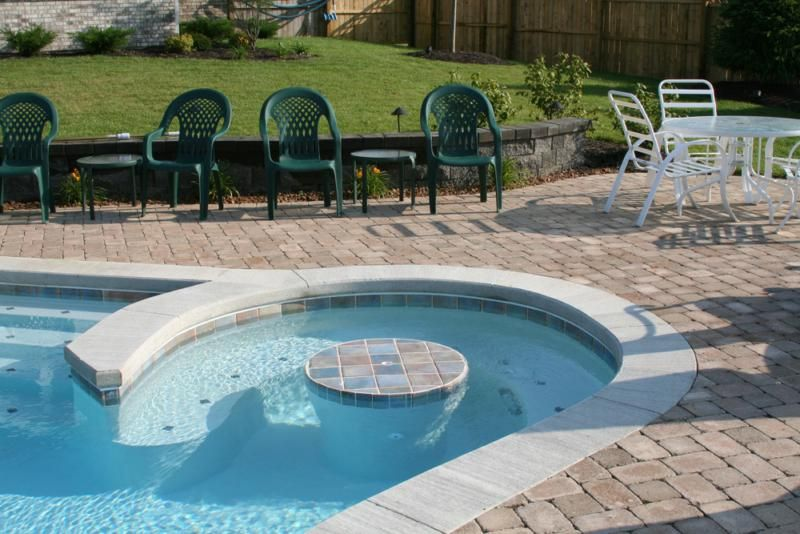 A Retaining Wall Sits Between The Home And The Pool And Provides Extra  Seating For Those