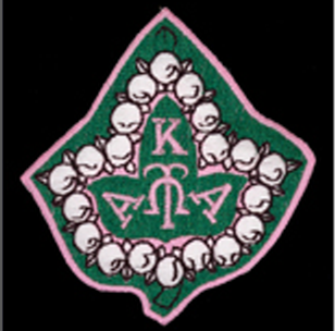 This Image Represents The Aka Ivy Leaf Which Is Their Official Symbol Inside Are 20 Pearls To Represent Emblem Embroidery Iron On Embroidery Alpha Kappa Alpha