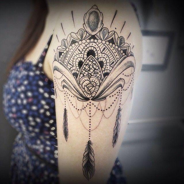 By @bastarzt_tattoo on Instagram - shoulder tattoo ...