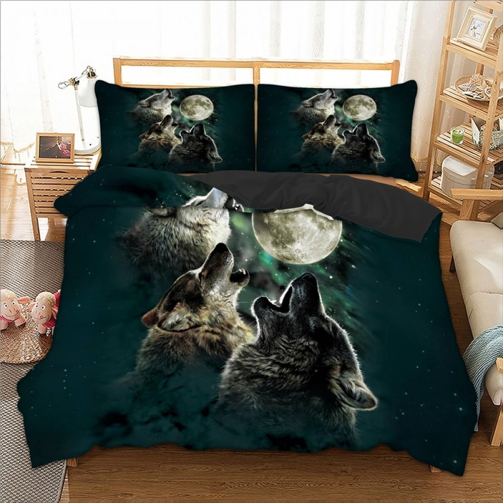 Wongs Bedding 3d Wolf Duvet Cover Bedding Set Quilt Cover Bed Set 3pcs Twin Queen King Size Home Textile Comforter Duvet Cover Bed Covers Duvet Covers