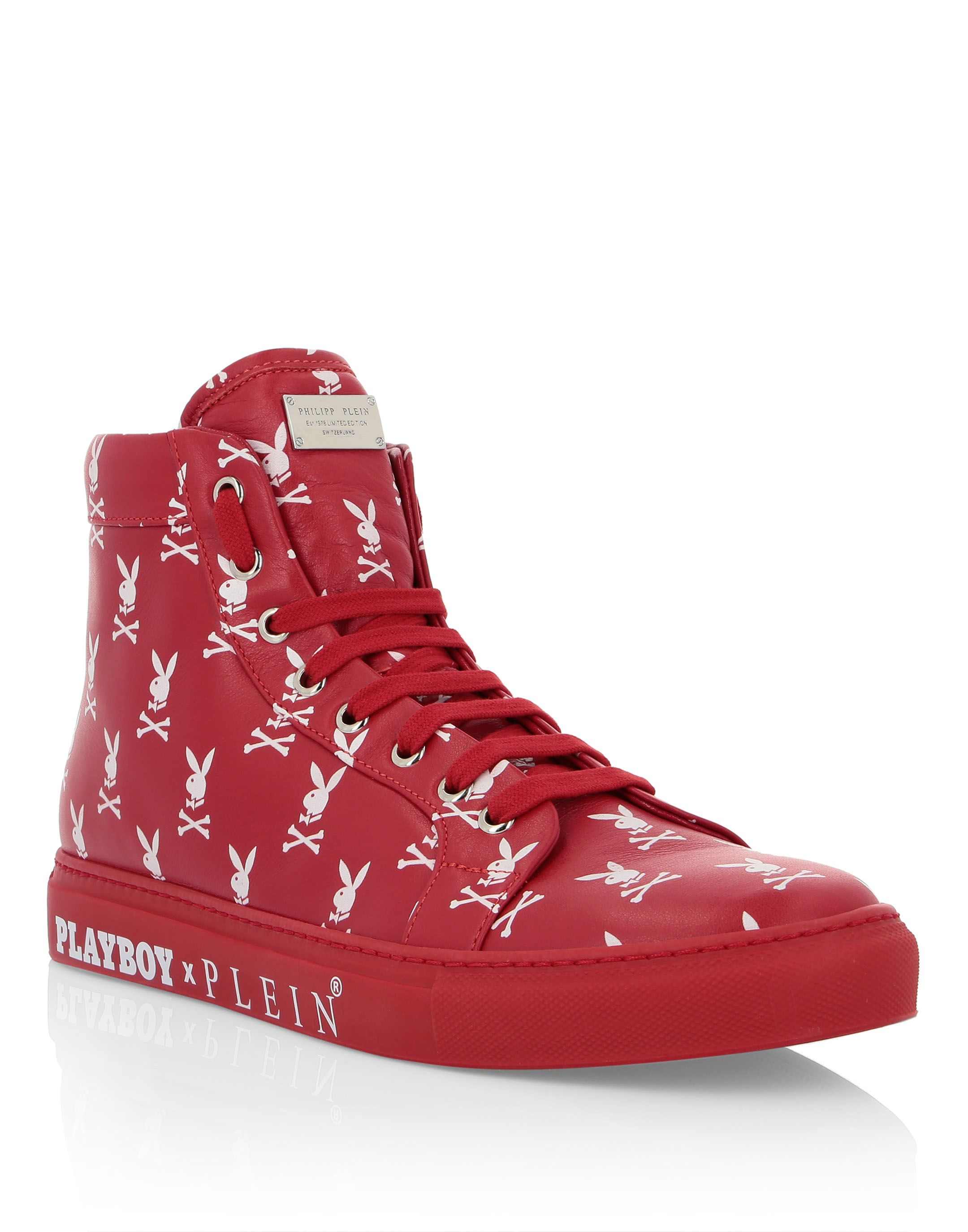 cheap for discount 20bda 193b0 PHILIPP PLEIN HI-TOP SNEAKERS PLAYBOY SKULL.  philippplein  shoes