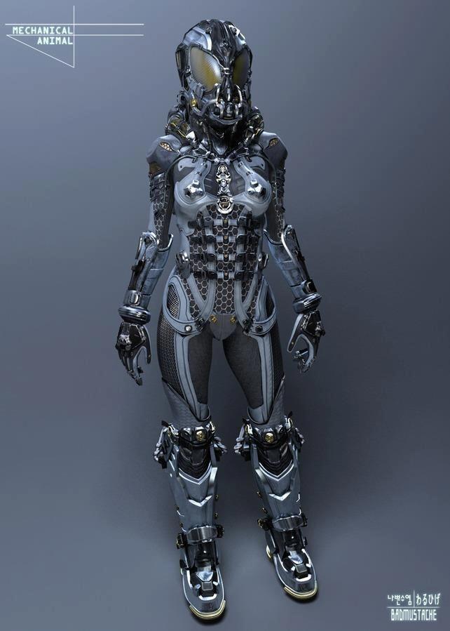 Mechanical Animal suit | 3d art | Robot design, Cyberpunk