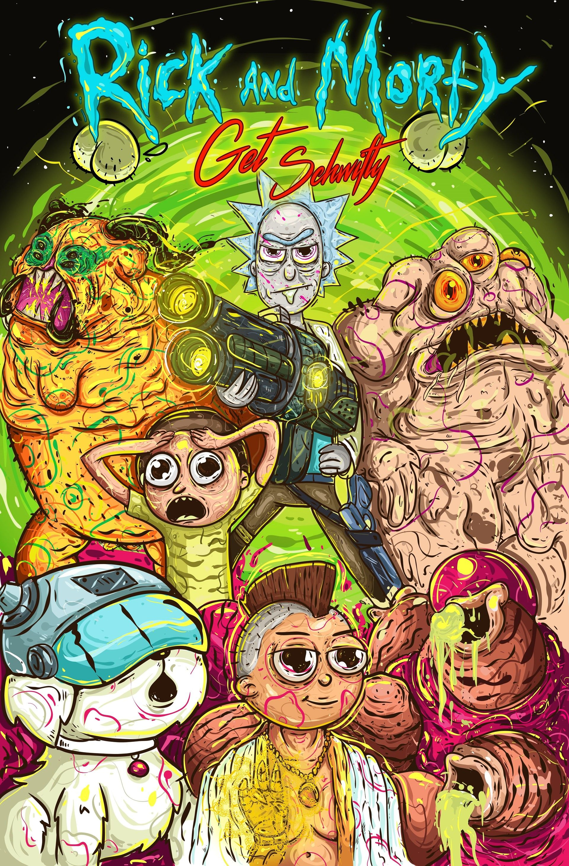 Image result for Rick and Morty psychedelic art Nerd art
