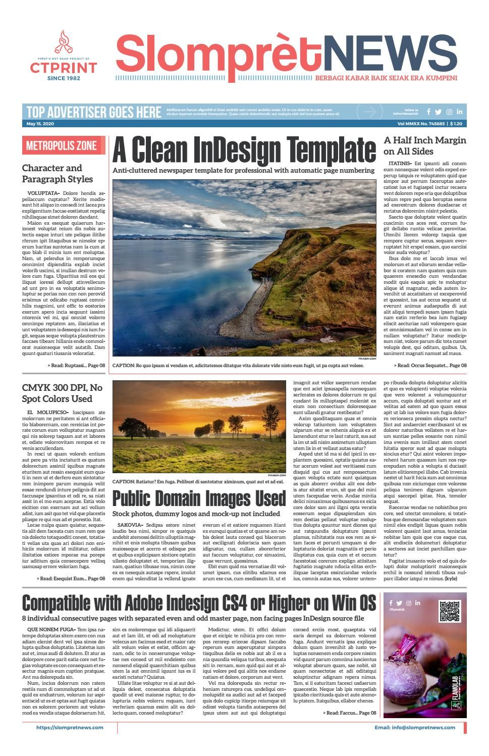 slompret newspaper preview desain dan fotografi adobe indesign