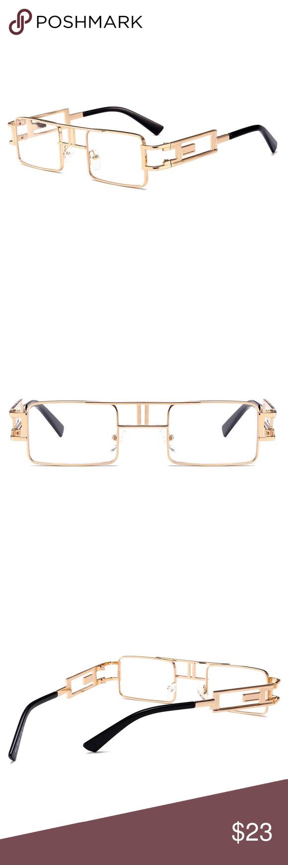 a79c0b76c1dd Hip Hop Gold Frame Clear Lens Glasses Hip Hop Gold Frame Clear Lens Glasses  Frame Material  Alloy Lens Color  Green Lens Shape  Rectangle Tsv Jewelers  ...