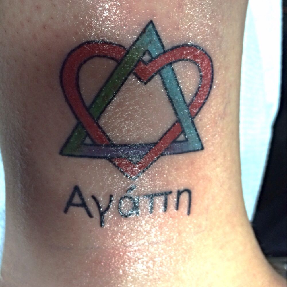 My second tattoo the symbol for adoption and the word agape the symbol for adoption and the word agape written under it in biocorpaavc Image collections