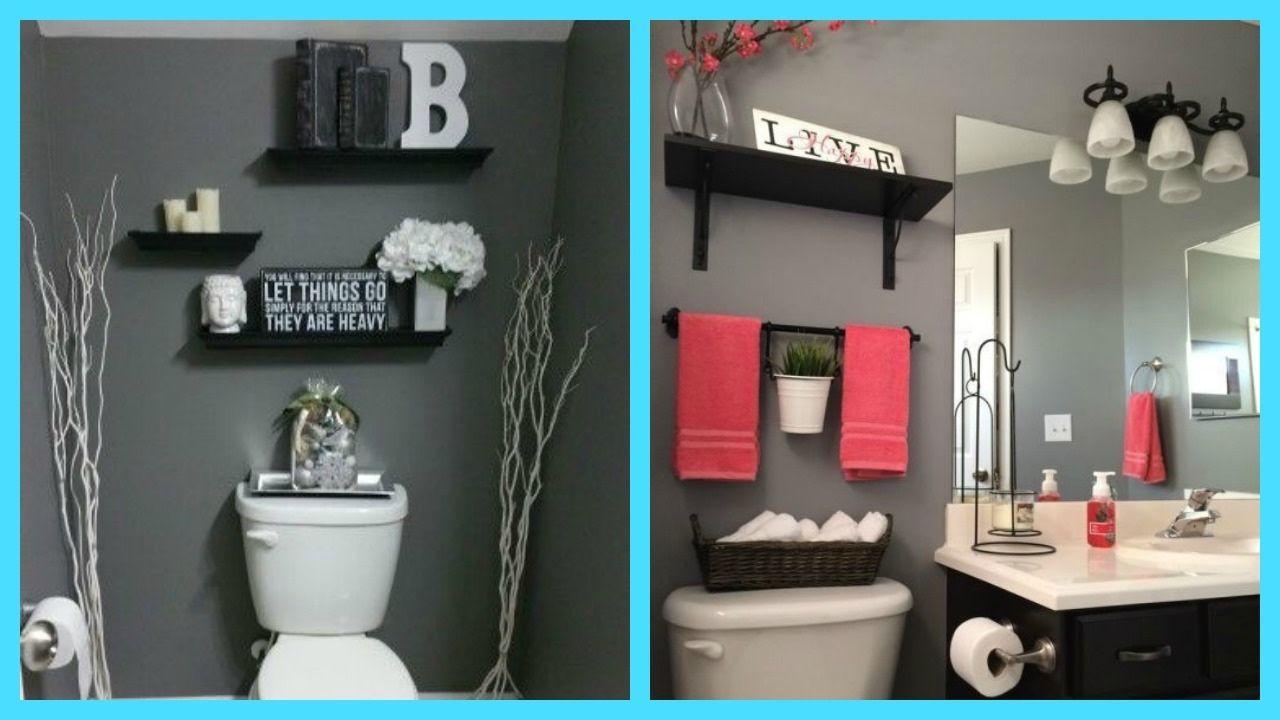 Ideas para organizar el ba o y decorar de color gris - Banos grises ...