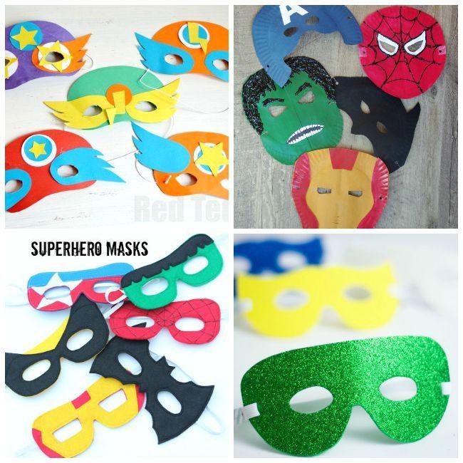 Diy Mask Ideas For Kids Mask For Kids Hero Crafts Diy Mask