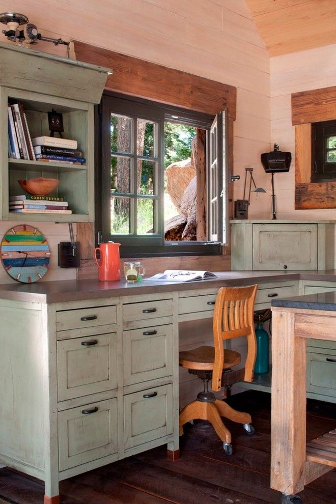 25 Awesome Rustic Home Office Designs Rustic Home Offices Home