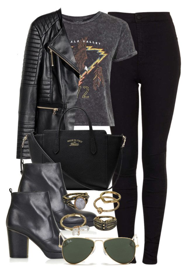 Style #9765 by vany-alvarado ❤ liked on Polyvore featuring Topshop, H&M, Gucci, Ray-Ban, Mudd, women's clothing, women, female, woman and misses