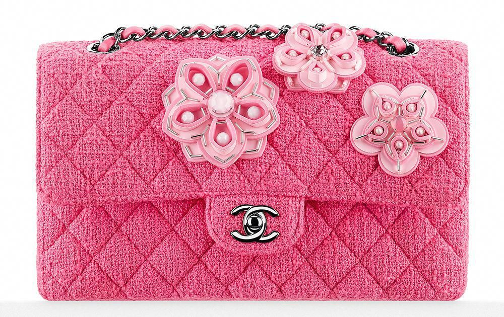 2480dc1859be Chanel-Flower-Embroidered-Tweed-Classic-Flap-Bag #Chanelhandbags ...