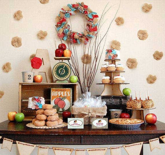 Vintage Apple Orchard Decorations For Girls Birthday Party
