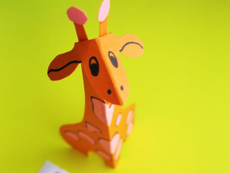 Giraffe Basteln Anleitung Und Vorlage Fur Das Papier Tier Giraffen Party Lowe Basteln Giraffe