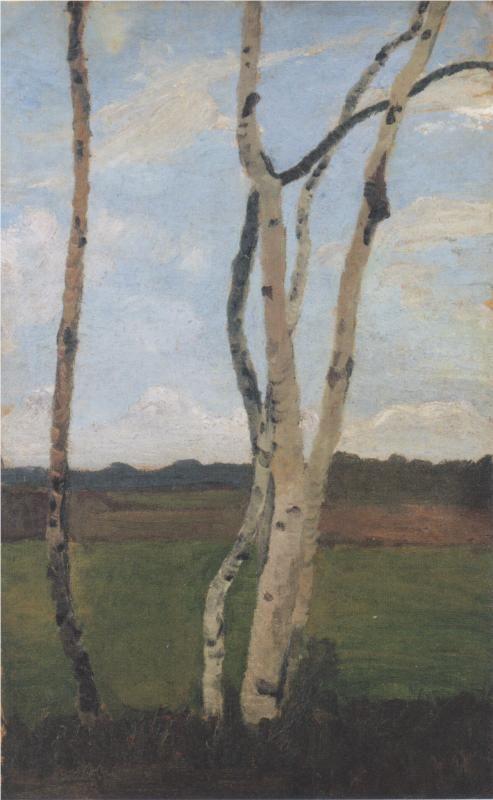 Landscape with Birch trunks, 1901  Paula Modersohn-Becker