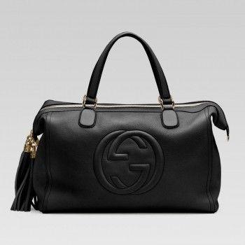 2cca242925729 282306 A7m0g 1000 Soho Gucci-Taschen mit gepr gtem Verriegelung G Und  Quasten Gucci Damen Handtaschen