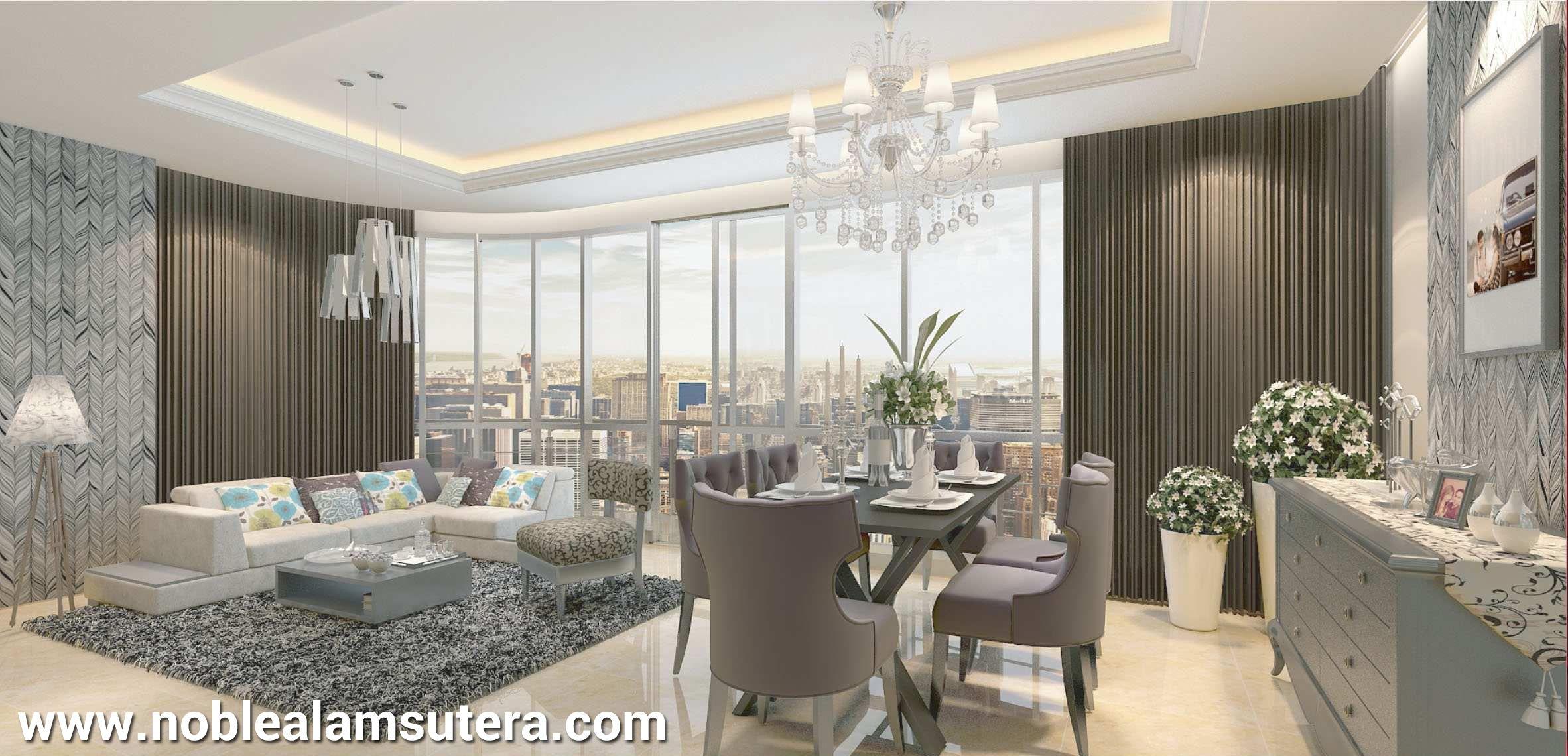 Interior design apartemen - Contoh Interior Design Apartemen The Noble Alam Sutera 3br