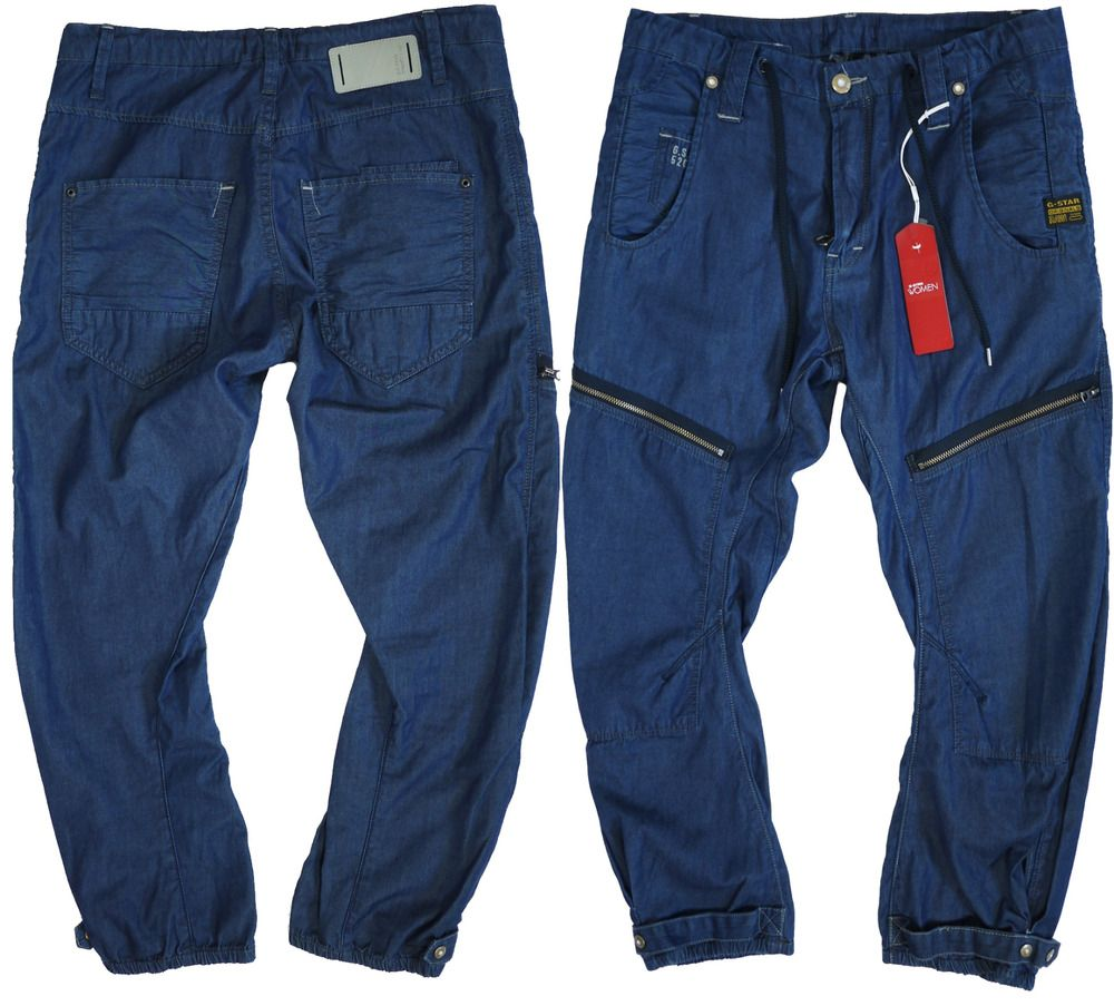 ee0338b4166 G-star Womens Pants W-26 L-32 Loose Tapered Capri Cropped Jeans New ...