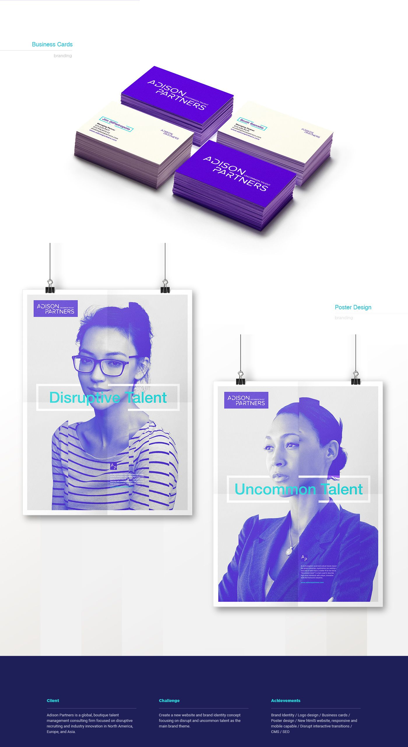 Adison Partners - Branding & Web Design on Behance