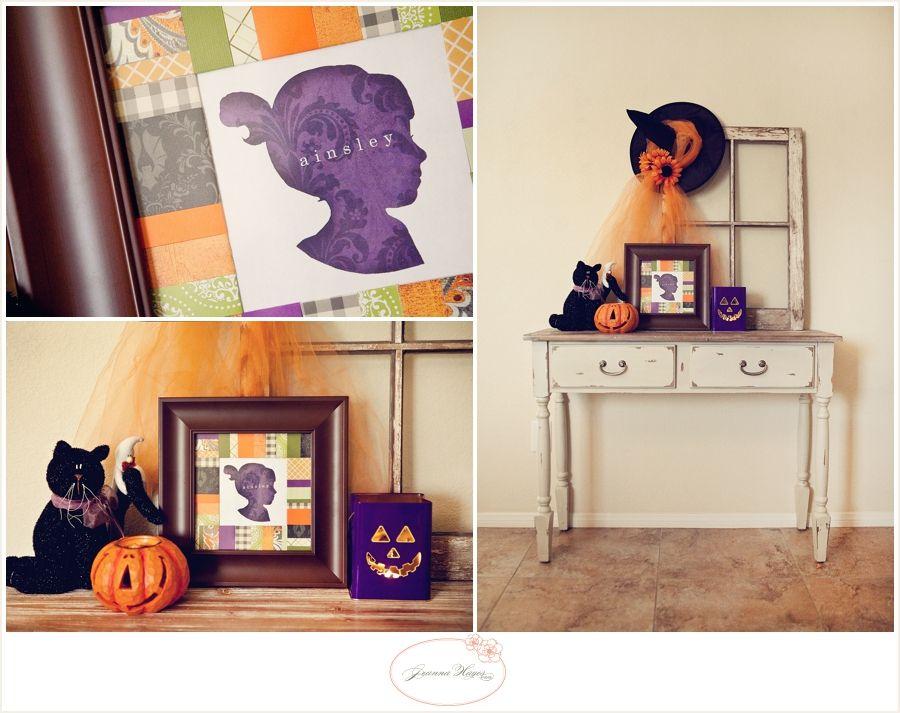 Halloween scrap paper frame from Jeanna Hayes Studios #spooktacularseptember