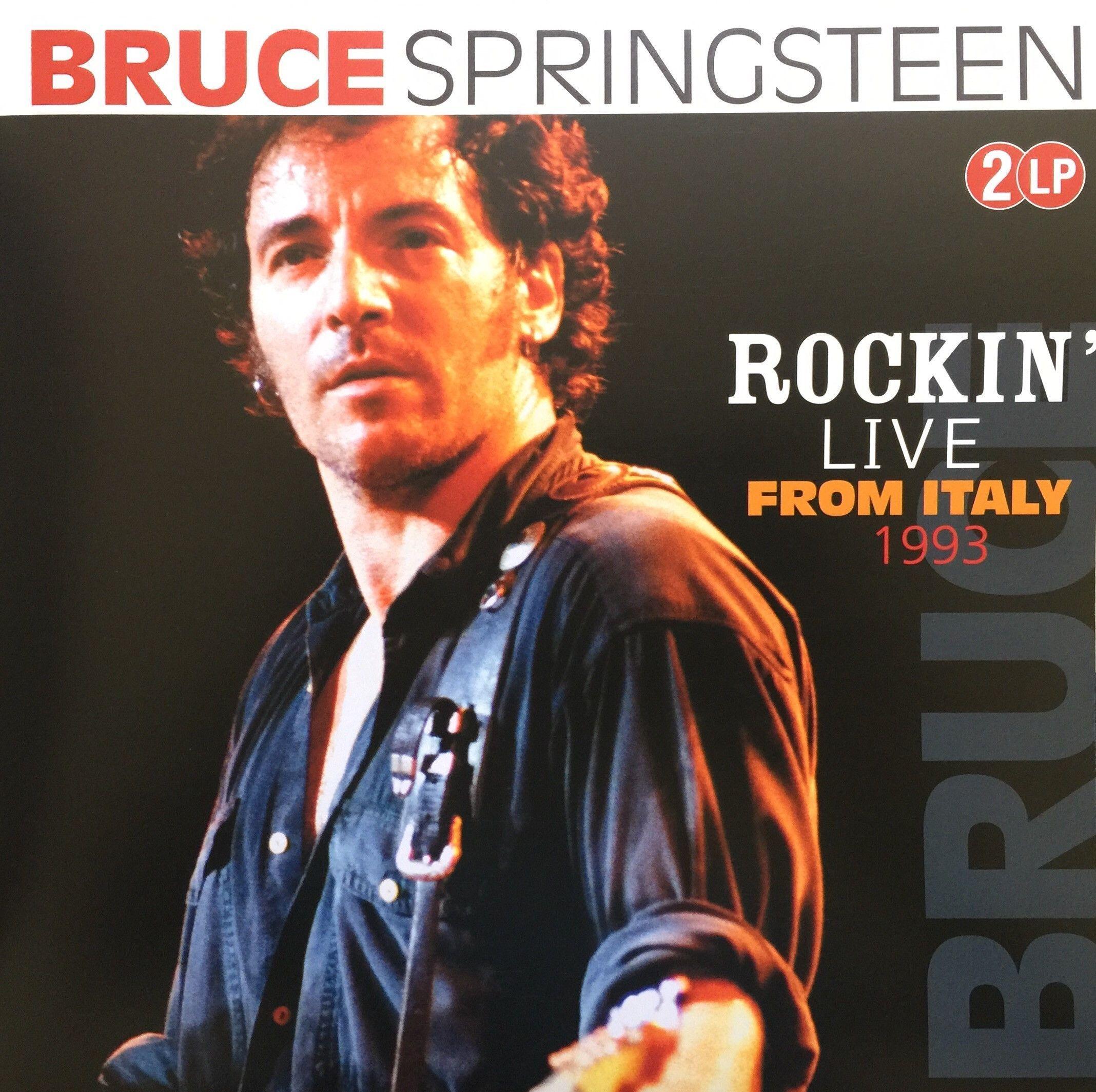 Bruce Springsteen Rockin Live From Italy 1993 Vinyl Lp Double Record Album Bruce Springsteen Bruce Springsteen The Boss Record Album