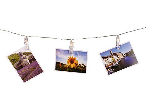 SMAZ LIFE LED Photo Clip String Lights Warm White 15 Feet Battery