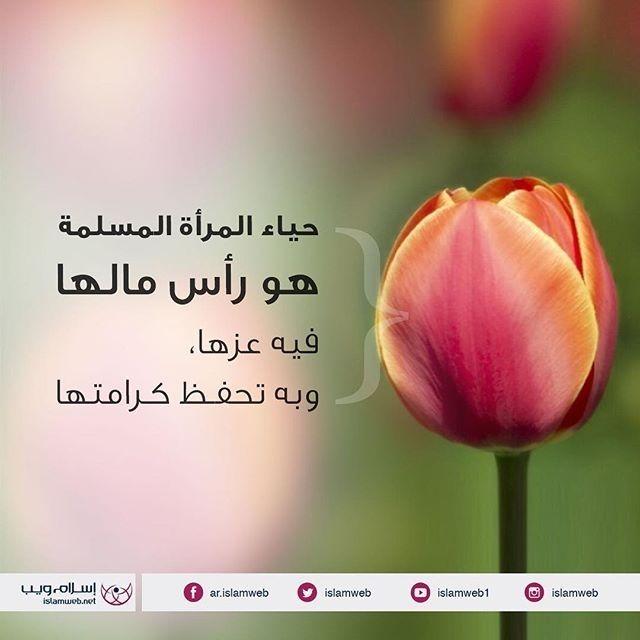 حياء المرأة المسلمة هو رأس مالها إسلام ويب Beautiful Words Words Radish