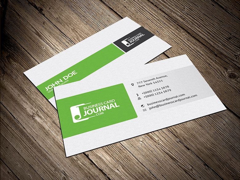 Corporate Business Card Template 0007 Green