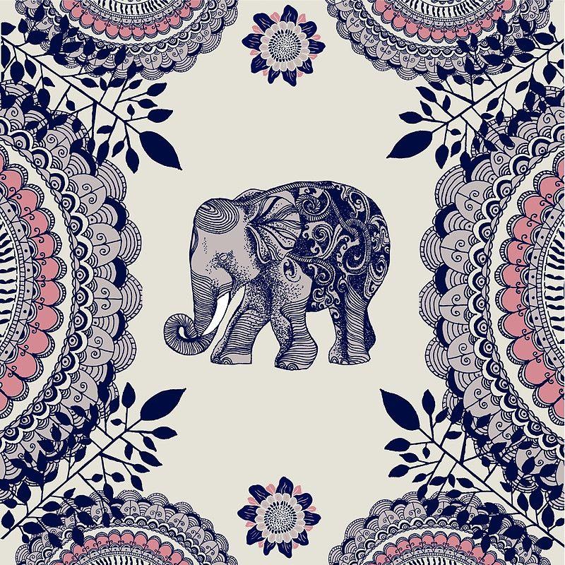 Pretty Pink Elephant Art Print Elephant art, Elephant