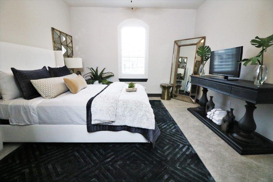 Designing A Masculine Guest Room Trendy Bedroom Black Living