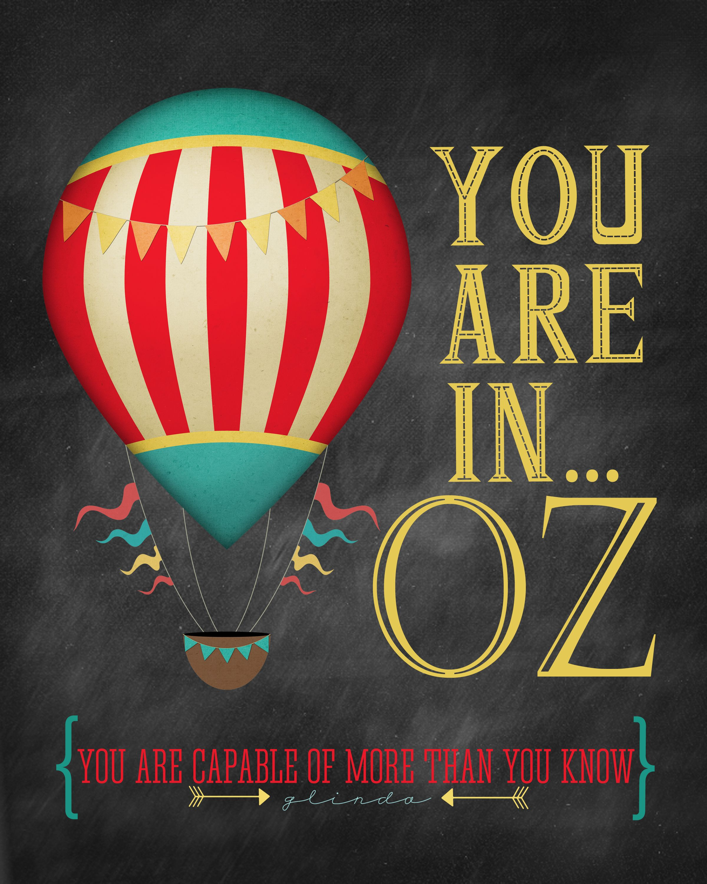 You Are In... Oz {free printable}