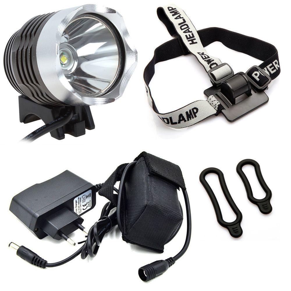 Rechargeable Led Bike Light Cycling Headlight Cree Xm L T6 1200 Lumens 3 Mode Flash Light 3 4 Hours Duration 8 4v Battery Pack Lights Lighting Flashlight