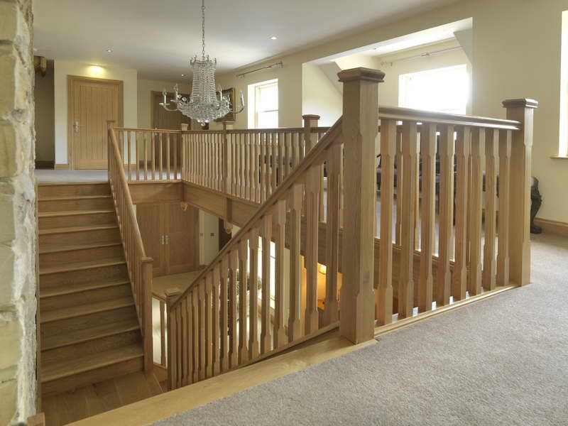 Solid Wood Stair Spindles Handrails And Newels For Modern Home Decoration  Design.
