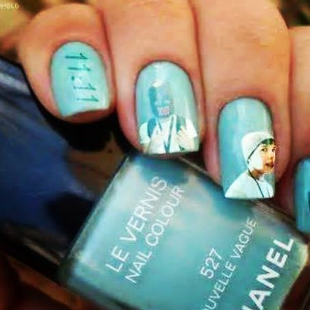 Austin Mahone nails!!! take a magazine with him on it and place on the nail leave it on for a little bit then take it off and...……Austin Mahone nails!