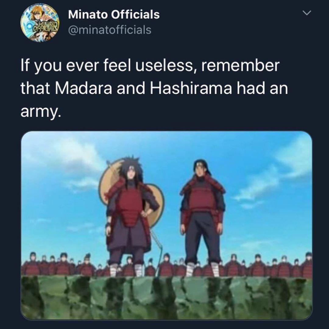 Anime Memes Manga Memes Shared A Photo On Instagram Who S Stronger Madara Or Hashirma See 307 Photo Naruto Shippuden Madara Naruto Memes Madara Uchiha