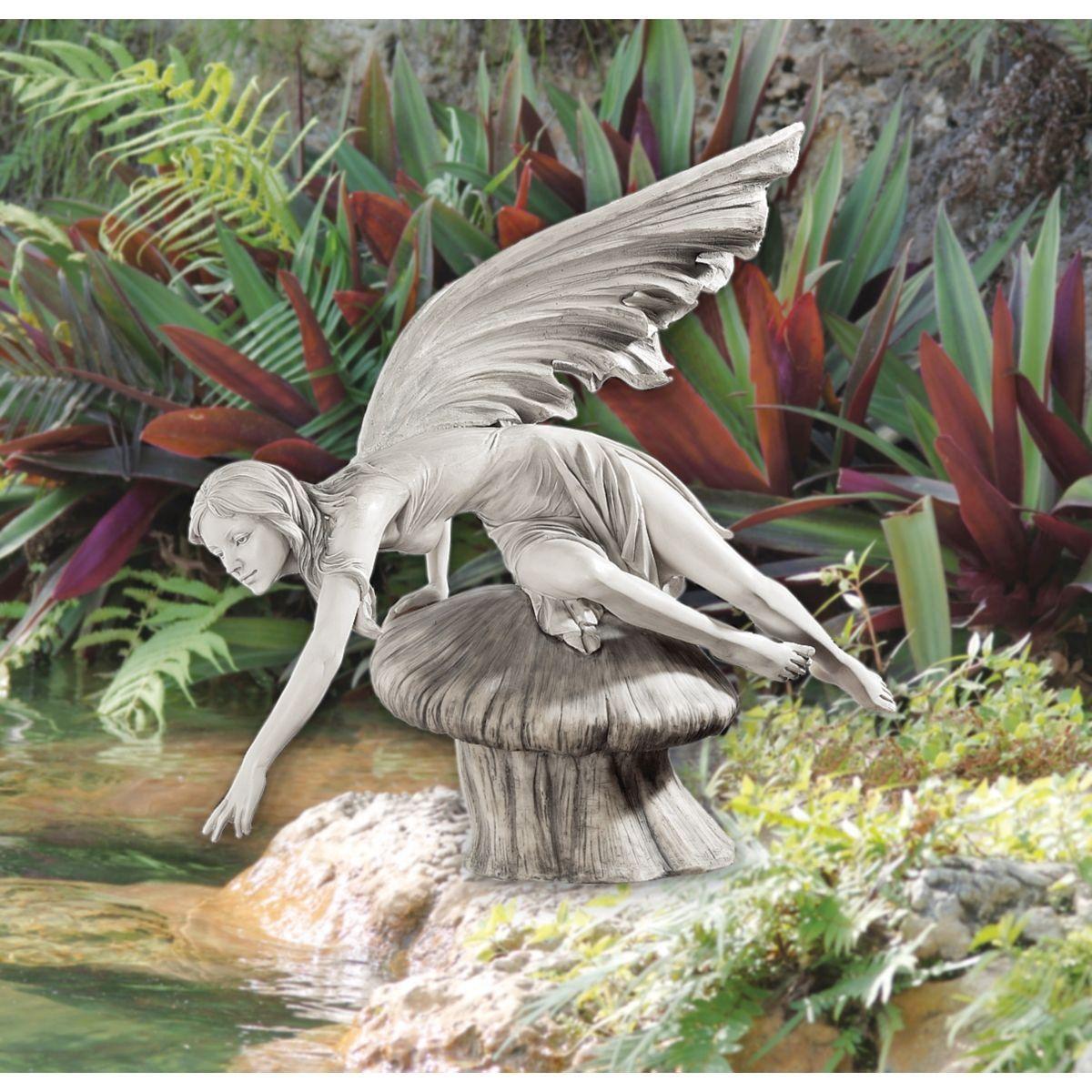 Elegant Amazon.com : The Daydream Fairy Statue : Outdoor Statues : Patio, Lawn U0026
