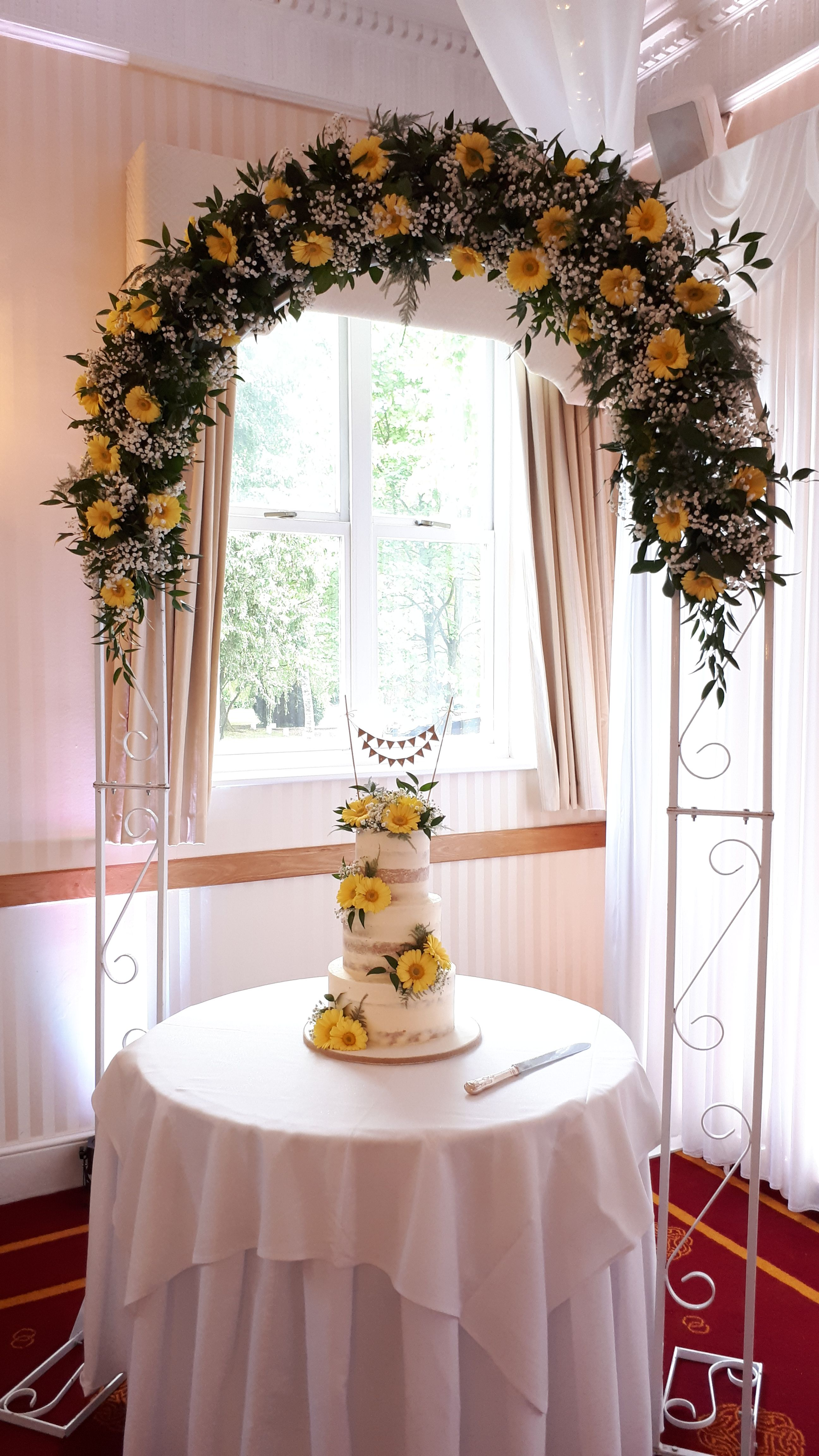 Yellow Wedding Theme Flower Arch After The Ceremony It S Perfect