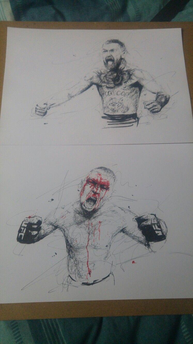 Conor mcgregor Nate diaz Scribble drawings | My drawings | Pinterest ...