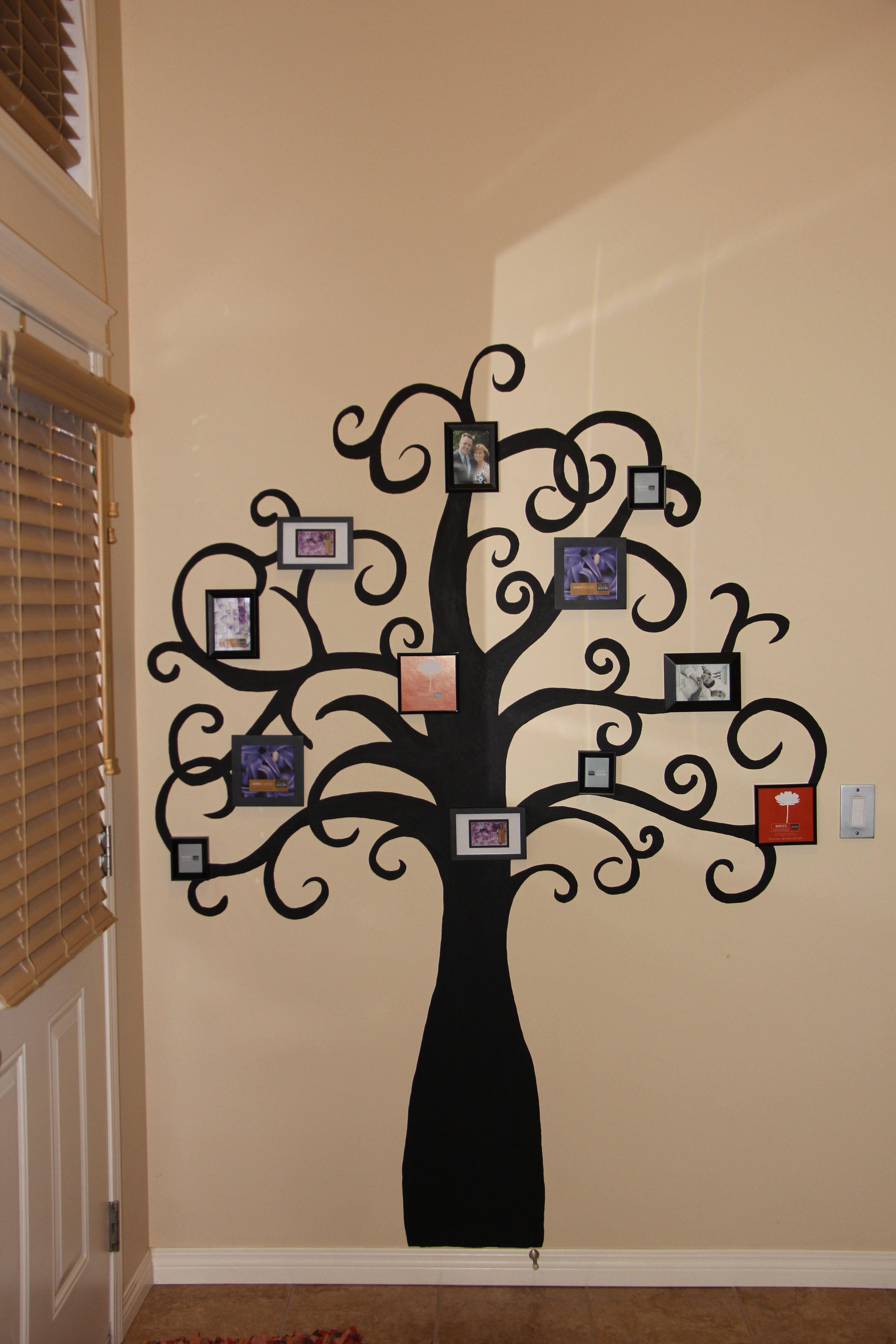 Family Tree Decor For Wall family tree wall | craft time!!! | pinterest | tree wall, family