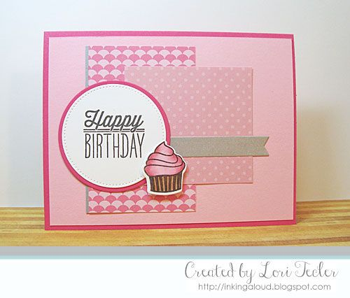 Hand Stamped Birthday Card By Lori Tecler Using The Small Packages Stamp Set From Verve