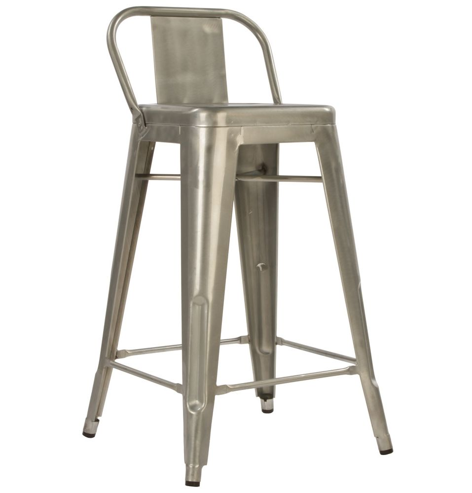 Explore Metal Stool Kitchen Stools and more!  sc 1 st  Pinterest & Replica Xavier Pauchard Tolix Stool 65cm with Back (Galvanised ... islam-shia.org