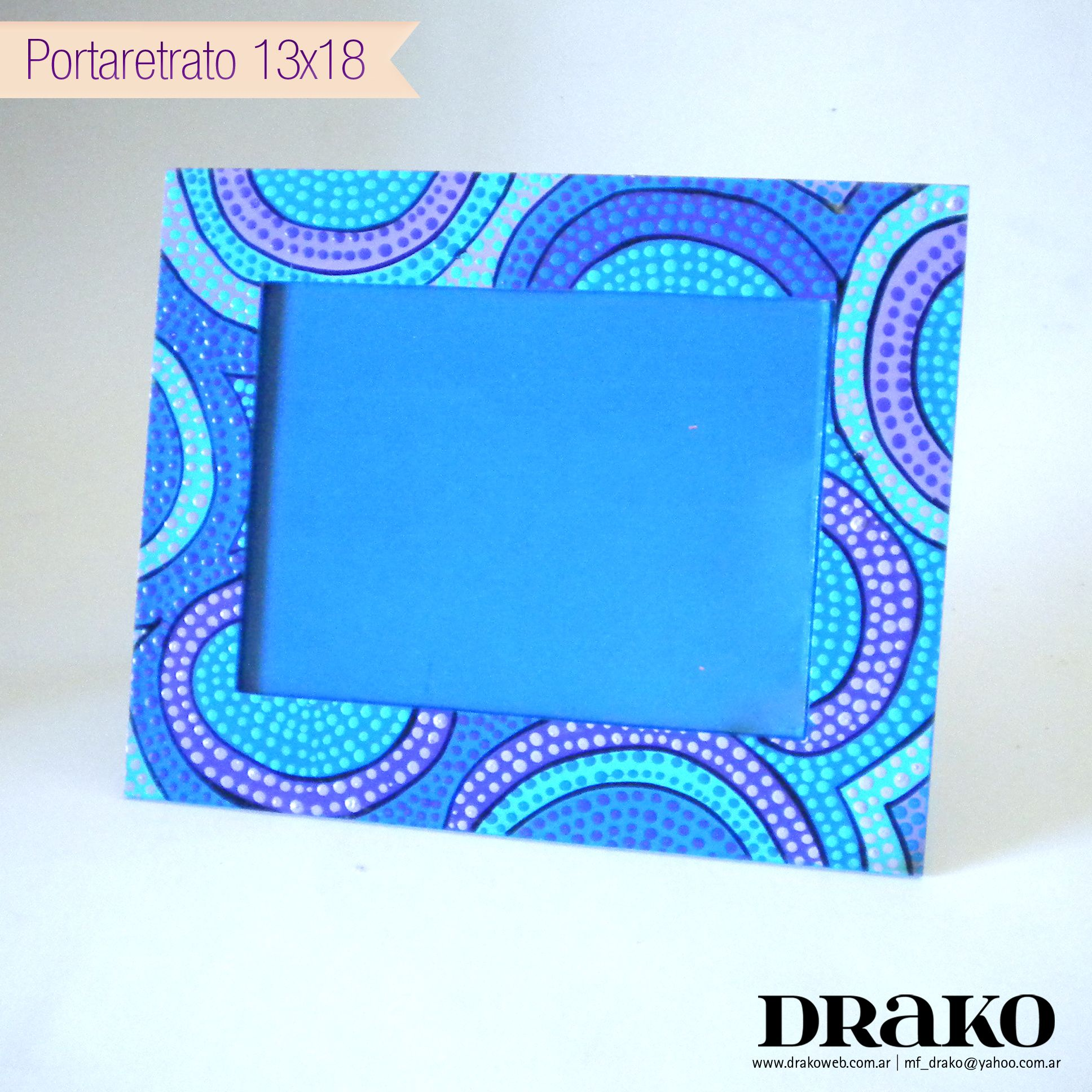 Blue photo frame / Portaretrato Azul | Portaretratos / Picture ...
