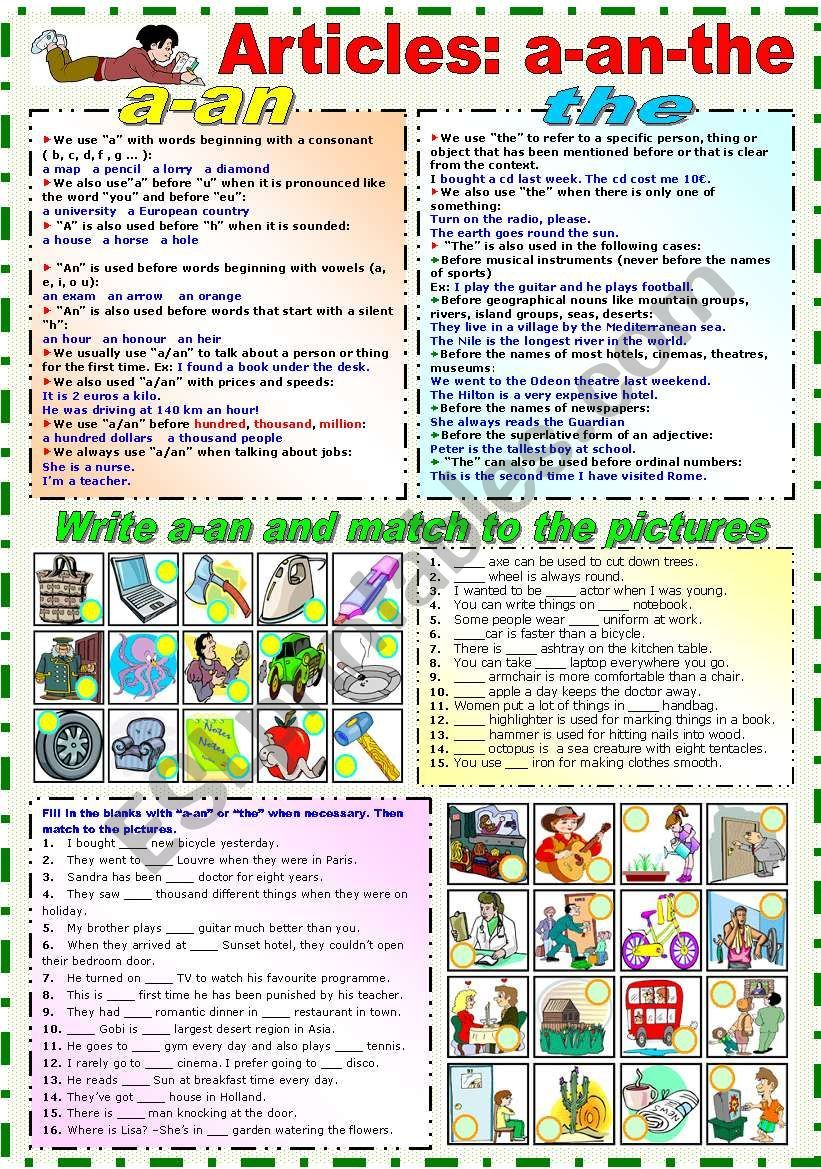 Articles A An The B W Version Included Esl Worksheet By Katiana Articles In English Grammar English Teaching Resources Article Grammar [ 1169 x 821 Pixel ]